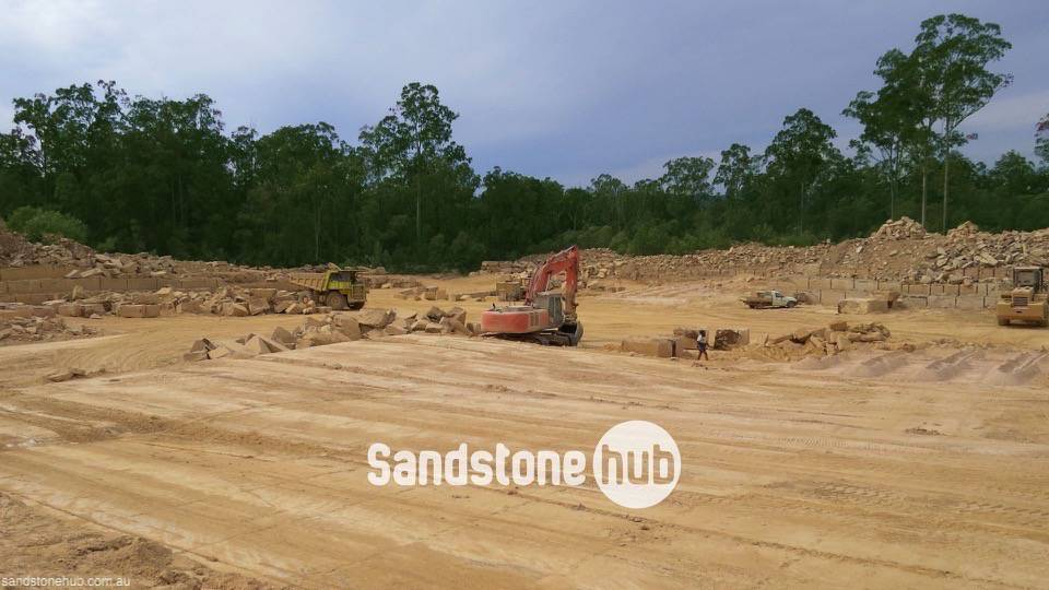 Sandstone Quarry Product Excavation in Process