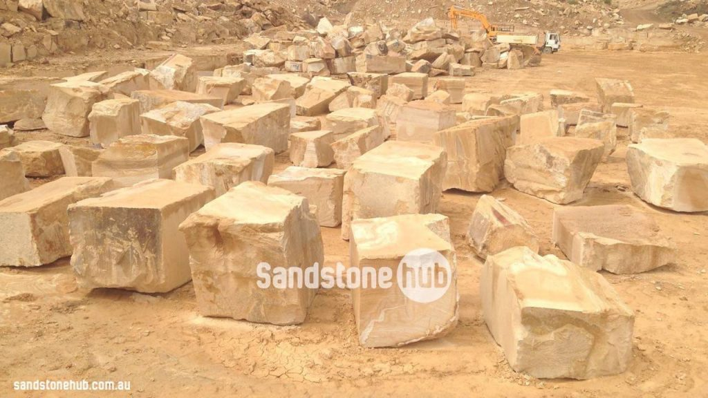 Sandstone Blocks Rocks And Boulder Production At The Quarry