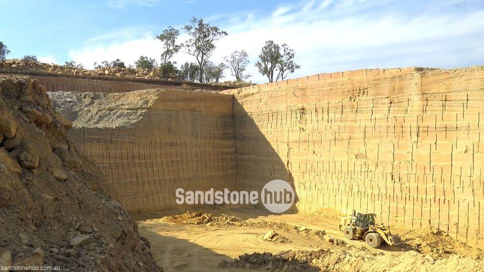 Sandstone Quarry Field Block Cutting Raw Product Picture