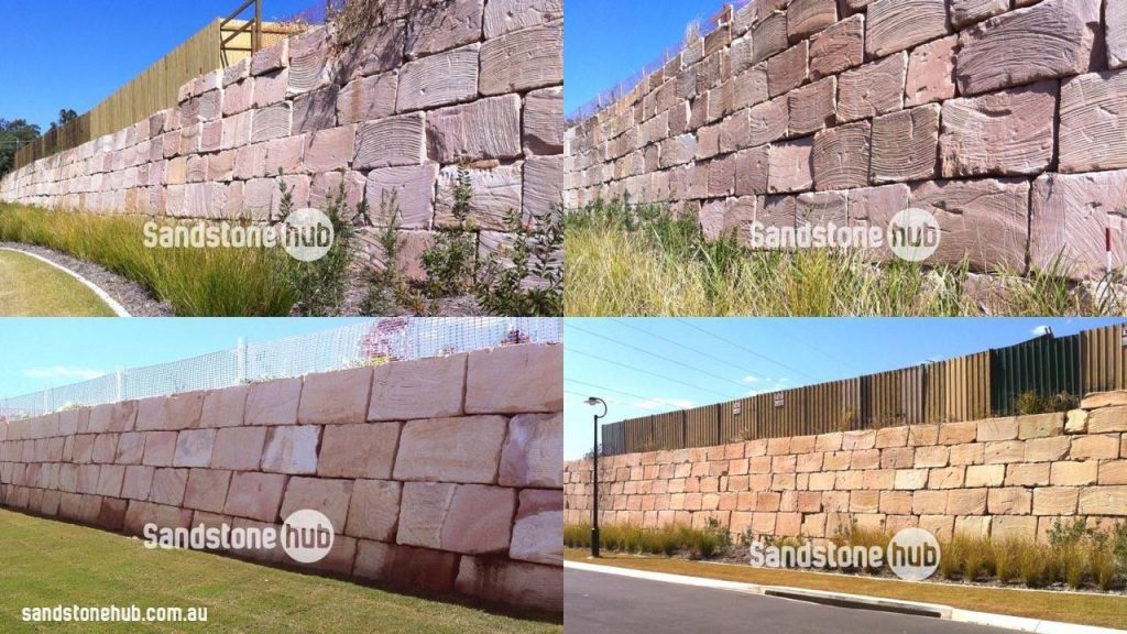 Sandstone Retaining Walls Completed Examples Four Pictures