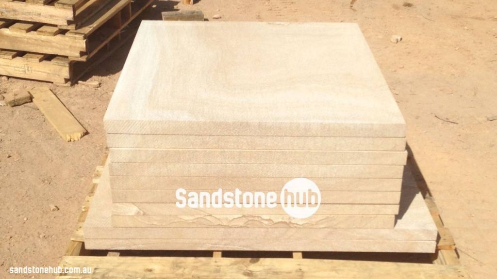 Sandstone Slabs Factory Finished On Pallet