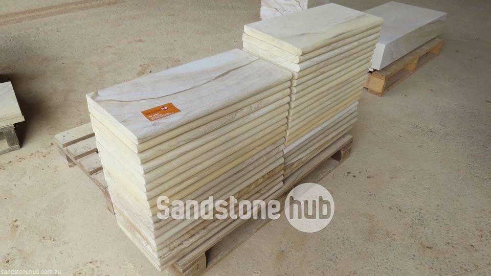 Sandstone Capping and Slabs with Bullnosed Edge Multi Colours on Pallet