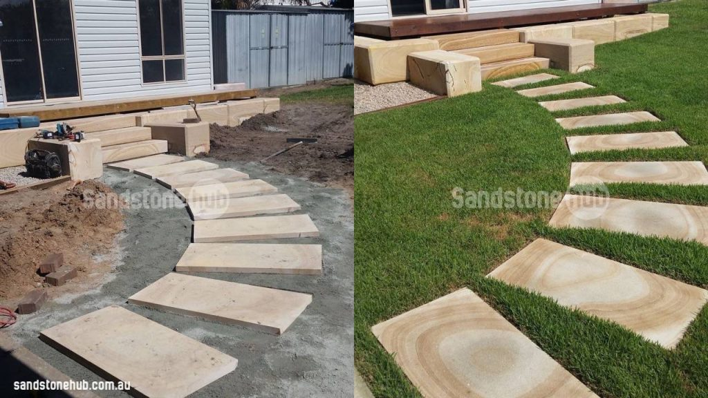 Sandstone Slabs Steps And Stepping Stones