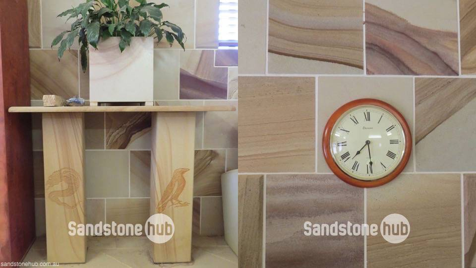 Sandstone Table and Wall Tiles Inside Multiple Colours