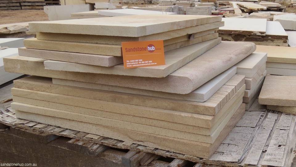 Sandstone Diamond Cut Slabs and Tiling Products Multi Purpose Option of Bullnose Edge