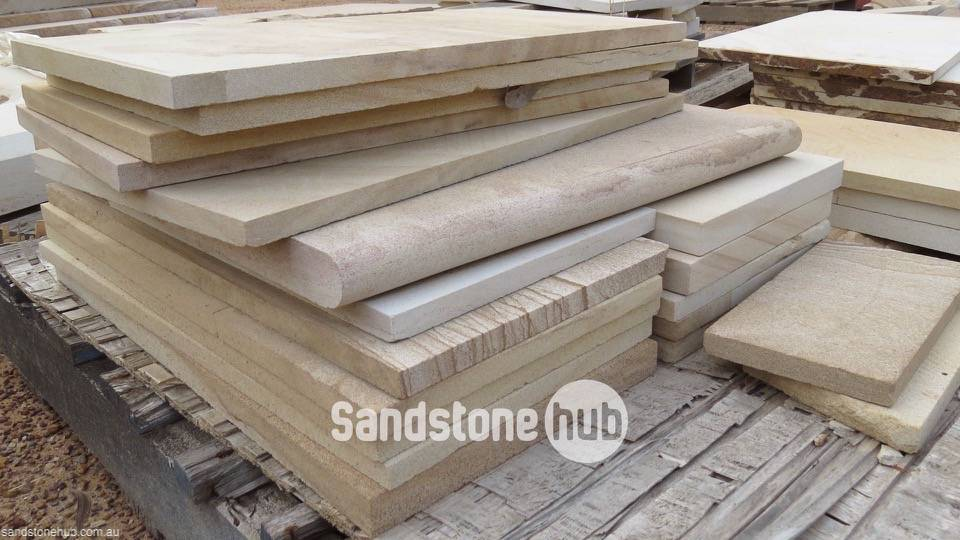 Sandstone Diamond Cut Slabs and Bullnosing at Qaurry Distribution Reserve