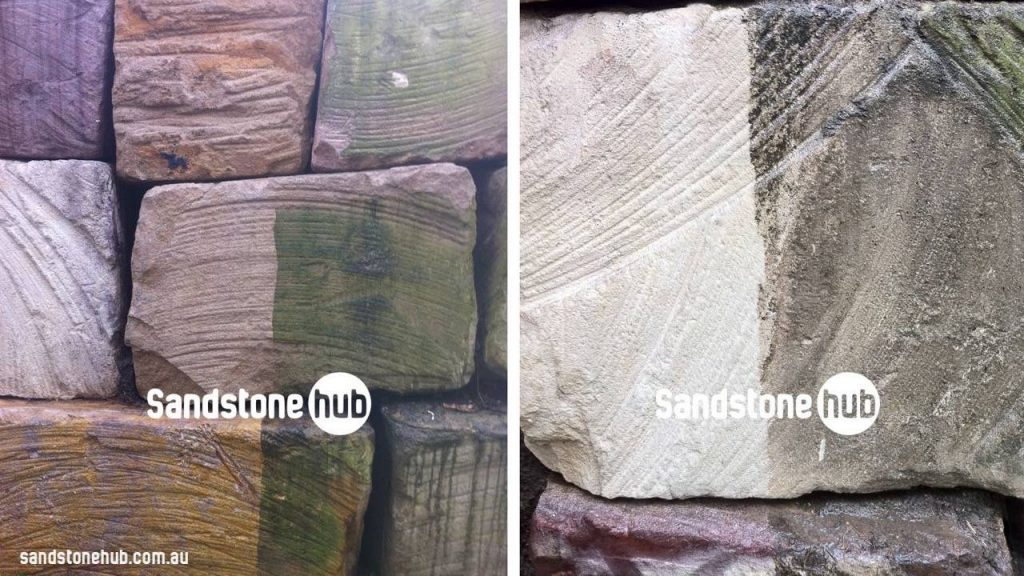 Sandstone Blocks Logs And Bricks After Washing