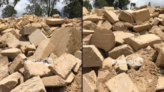Sandstone Quarry block off cuts